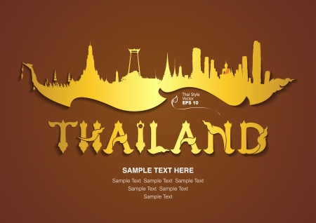sightseeings: thailand travel design, vector illustration
