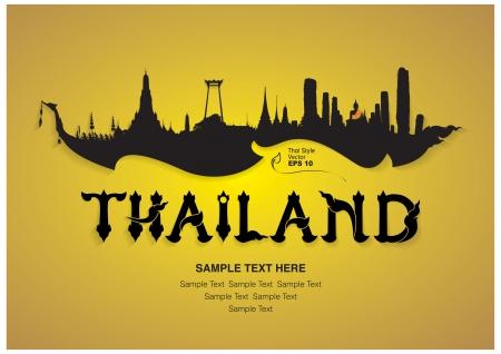 utazási: Thaiföld Utazás tervezés, a vektoros illusztráció