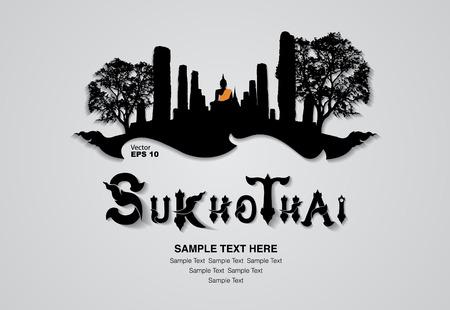 buddha tranquil: thailand travel design, vector illustration