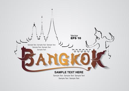 tempels: thailand ontwerp, vector illustration