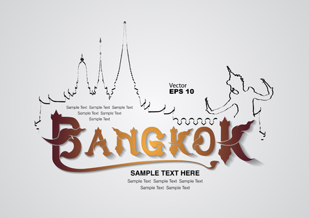 meditate: thailand travel design, vector illustration