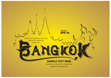 bangkok: thailand travel design, vector illustration