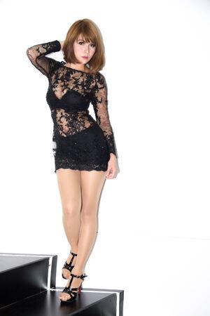 sponsors: Pretty woman, BANGKOK - April 6   Unidentified model  on display at The 35th Bangkok International Motor Show on April 6, 2014 in Bangkok, Thailand