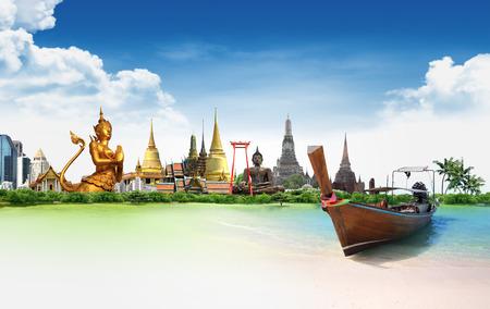 Concept reizen Tropisch strand, Thailand
