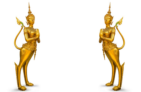 Golden statue at the Wat Phra Kaew photo
