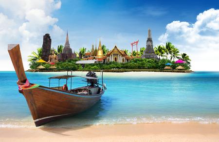 Thajsko cestování koncept
