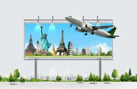 publicity: billboard, travel concept Stock Photo