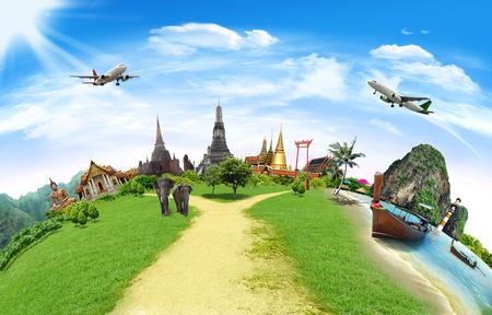 Concept van het reizen, thailand
