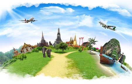 tourist vacation: Travel concept, Tailandia