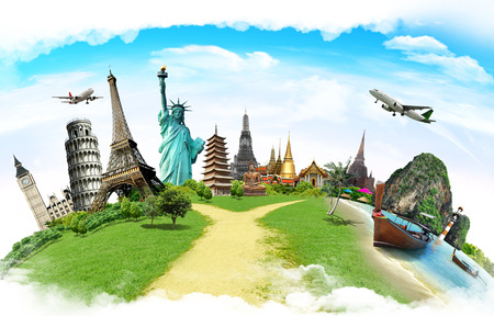 concept: Travel the world monument concept Stock Photo