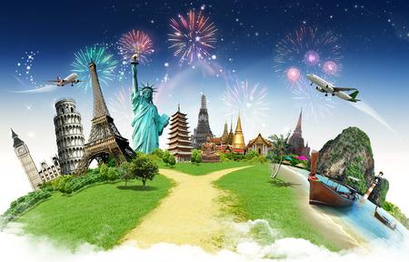 Voyage dans le concept de monument mondial