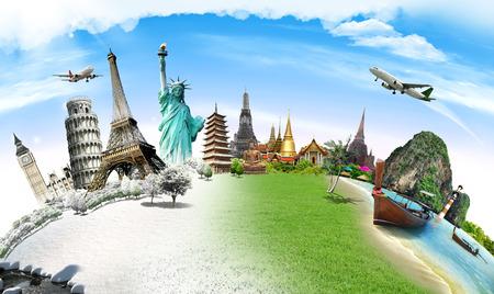 세계 기념물의 개념을 여행 스톡 콘텐츠