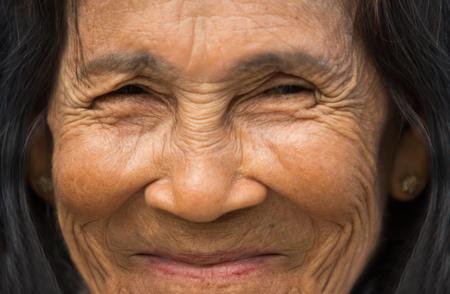 Portrait old woman - close up Stock Photo