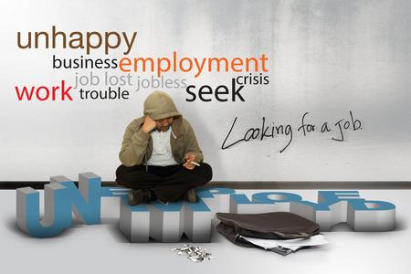 destitution: unemployment, concept Stock Photo