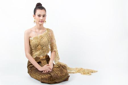 thai dancing: hai Lady in vintage original Thailand