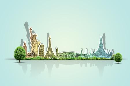 voyage: Voyagez à travers le concept de monument du monde