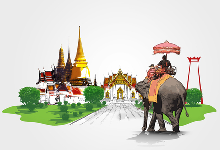 elephant�s: Concepto de viaje de Tailandia Foto de archivo