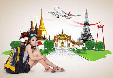 bangkok night: Thailand travel concept