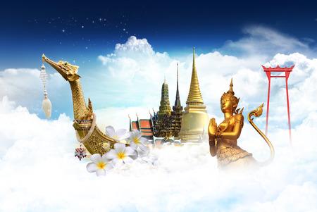 bangkok landmark: Thailand travel concept