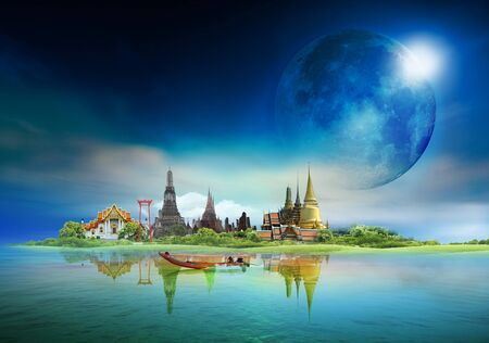 bangkok, thailand, concept Elements of this image furnished by NASA