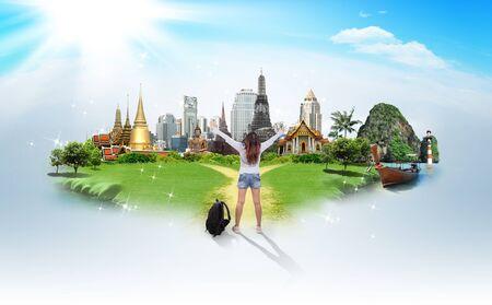 travel background: Thailand travel background, concept Stock Photo