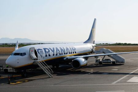 Ryanair plane boeing 737 8AS. Ryanair is biggest budget low-cost airline in the world.