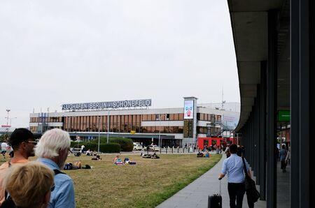 Berlin Schonefeld airport, Germany. Exterior view of Schonfeld airport.