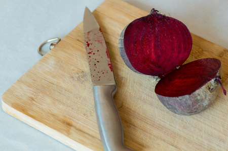 halved: Two pieces if halved beetroot