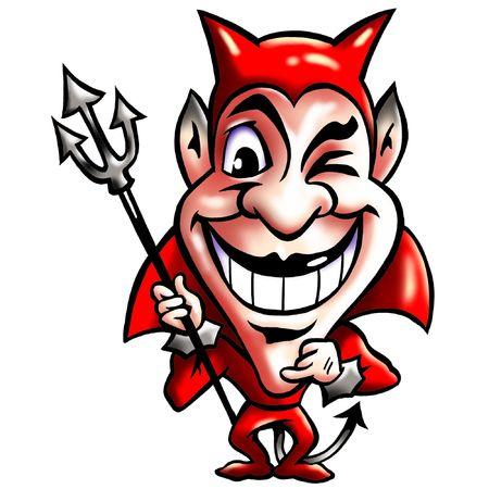 satanas: Sonriendo astucia Diablo Rojo