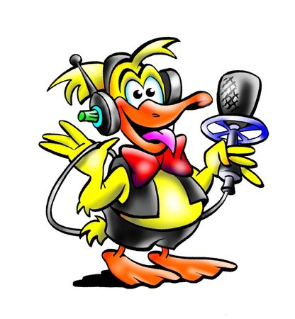 Duck Sports Commentator Stok Fotoğraf