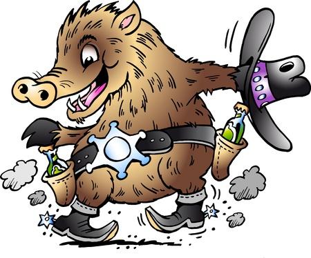 Dancing Javelina Boar  Ilustração