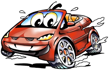 Cablet Sports Car racing in full speed Stock Photo - 9971174