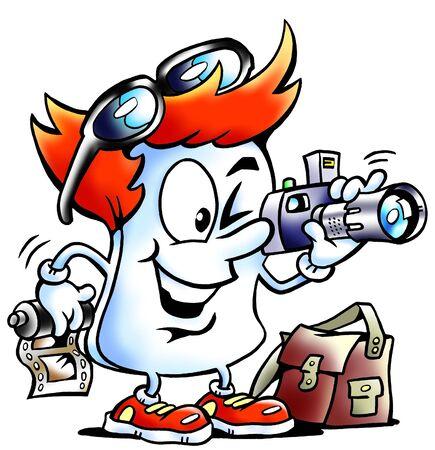 Photograph Paper mascot  photo