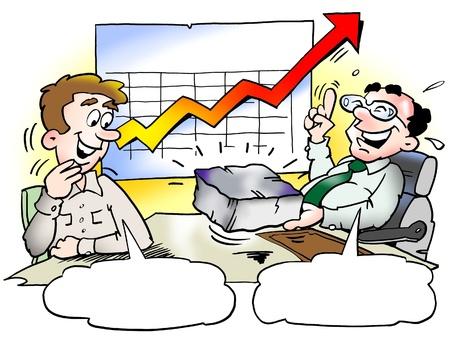 ingeniero caricatura: Hierro distribuidor con buenas ventas de las empresas