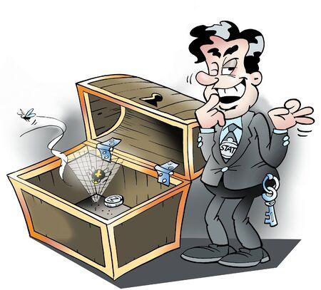 Empty treasure chest Stock Photo - 9971244