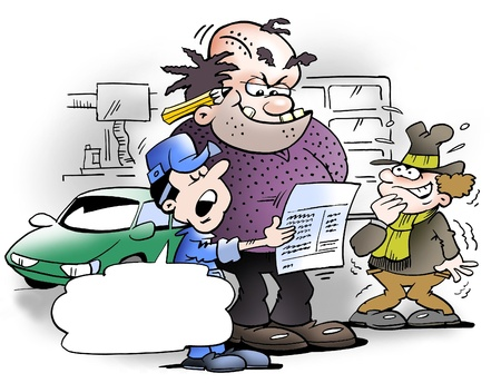 ingeniero caricatura: Nuevo contador de la empresa