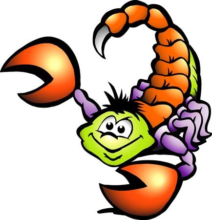 escorpio: Dibujado a mano ilustración de un escorpión Peligro