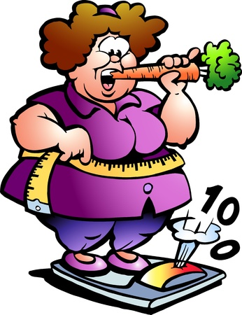 Hand-drawn illustration of an Fat Lady  Vector