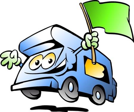 motorhome: Disegnati a mano illustrazione di un Camper Auto