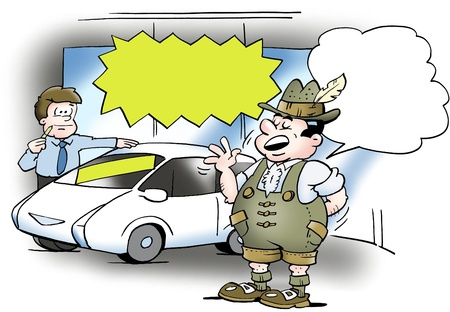 satire: A German considering buying a new car