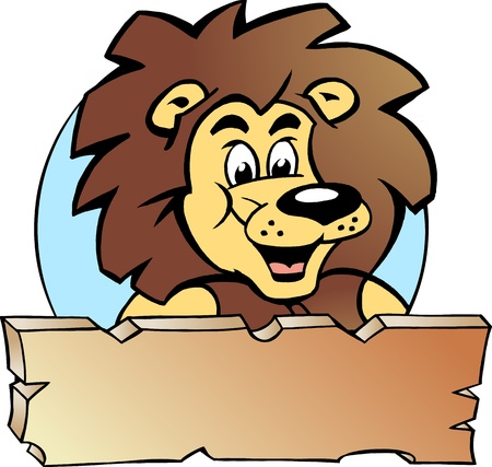 Hand-drawn Vector illustration of an Proud Lion King - Logo Design Vector