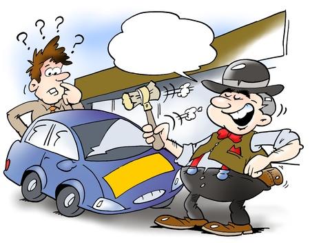 A smart car salesman and a customer Stock Photo - 18875559