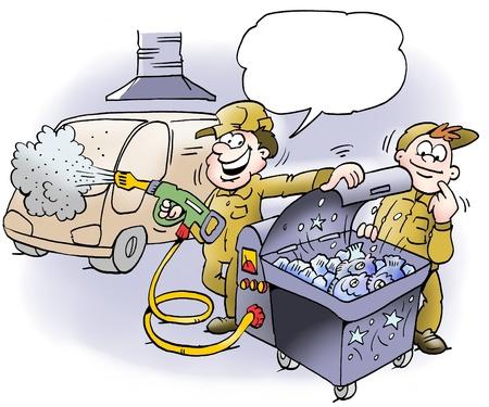 satire: A mechanic offers fresh fish