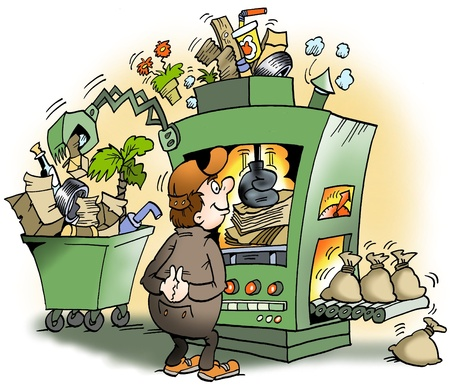 A machine that produces garbage for money