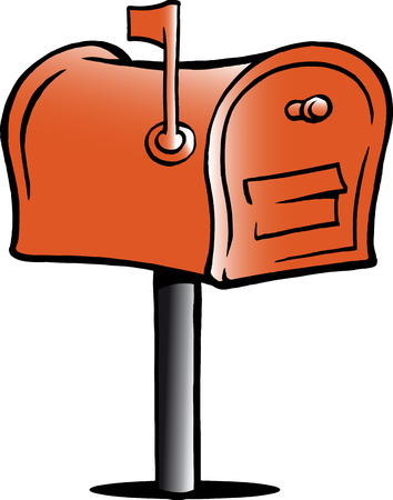 Hand-drawn illustration of an Mailbox
