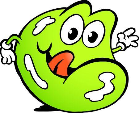 star mascot: Vector illustration of an Happy Wine Gum Stock Photo