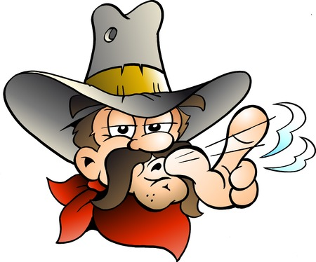 Cartoon Vector illustration of an Cowboy