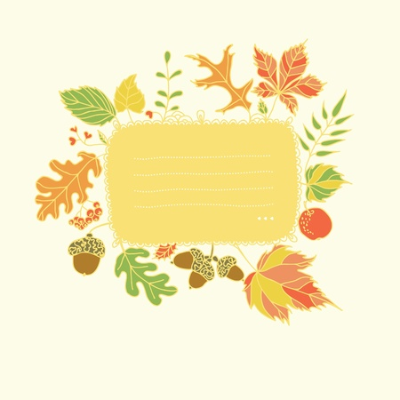 allegoric: Autumn design element with place for text