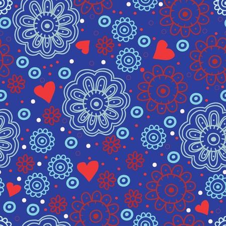Seamless flower pattern background Illustration