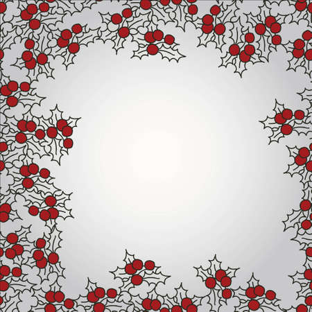 Background with mistletoe for Christmas designs with place for text